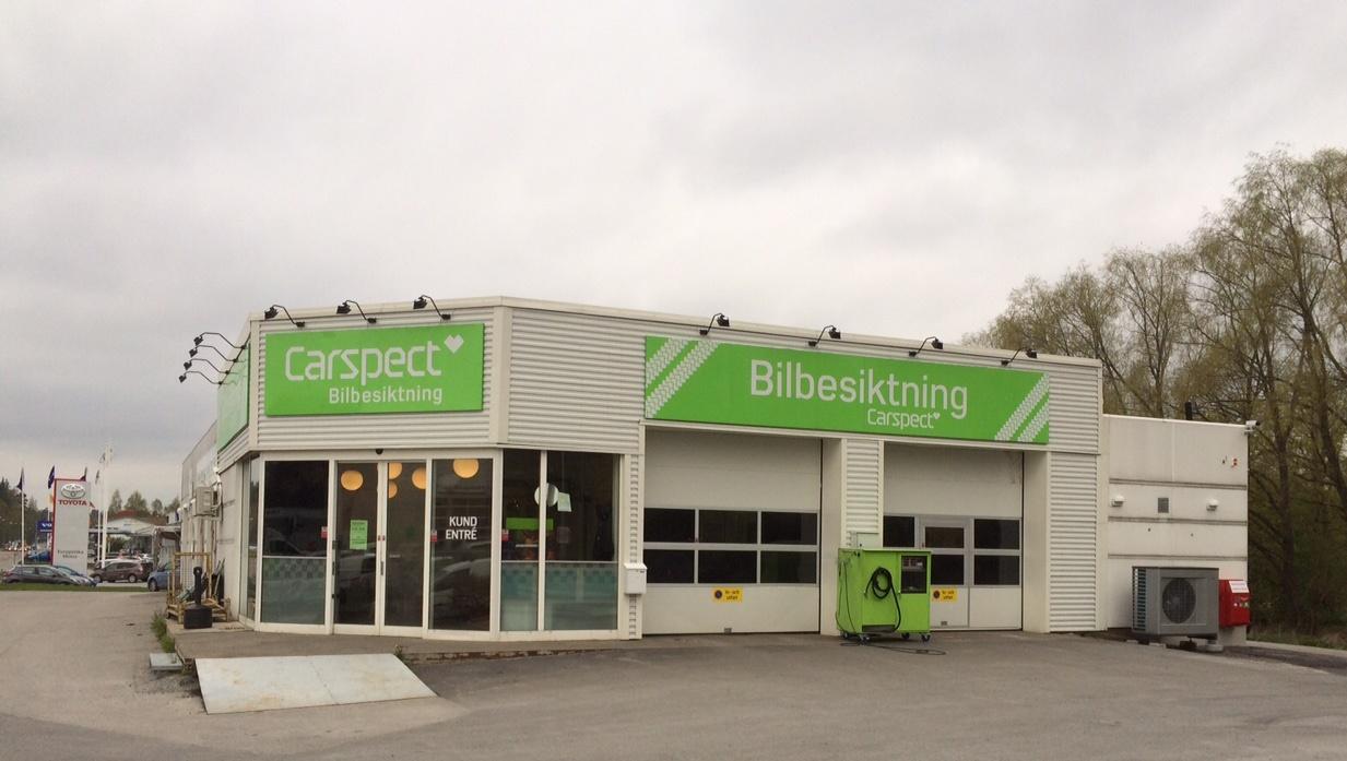 Carspects besiktningsstation på Enhagsvägen i Täby