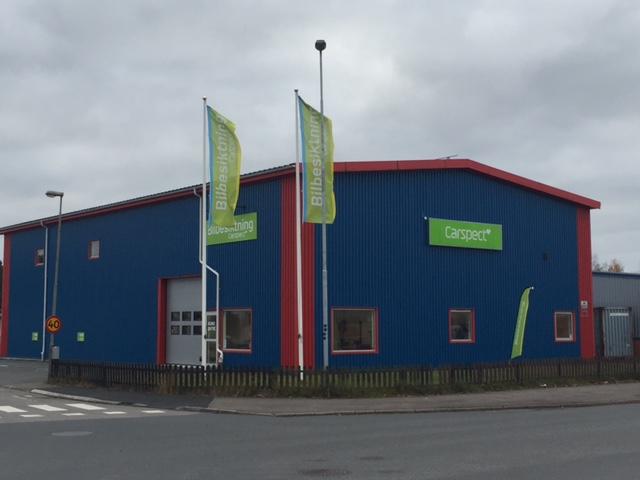 Carspects besiktningsstation på Bilgatan, Vetlanda