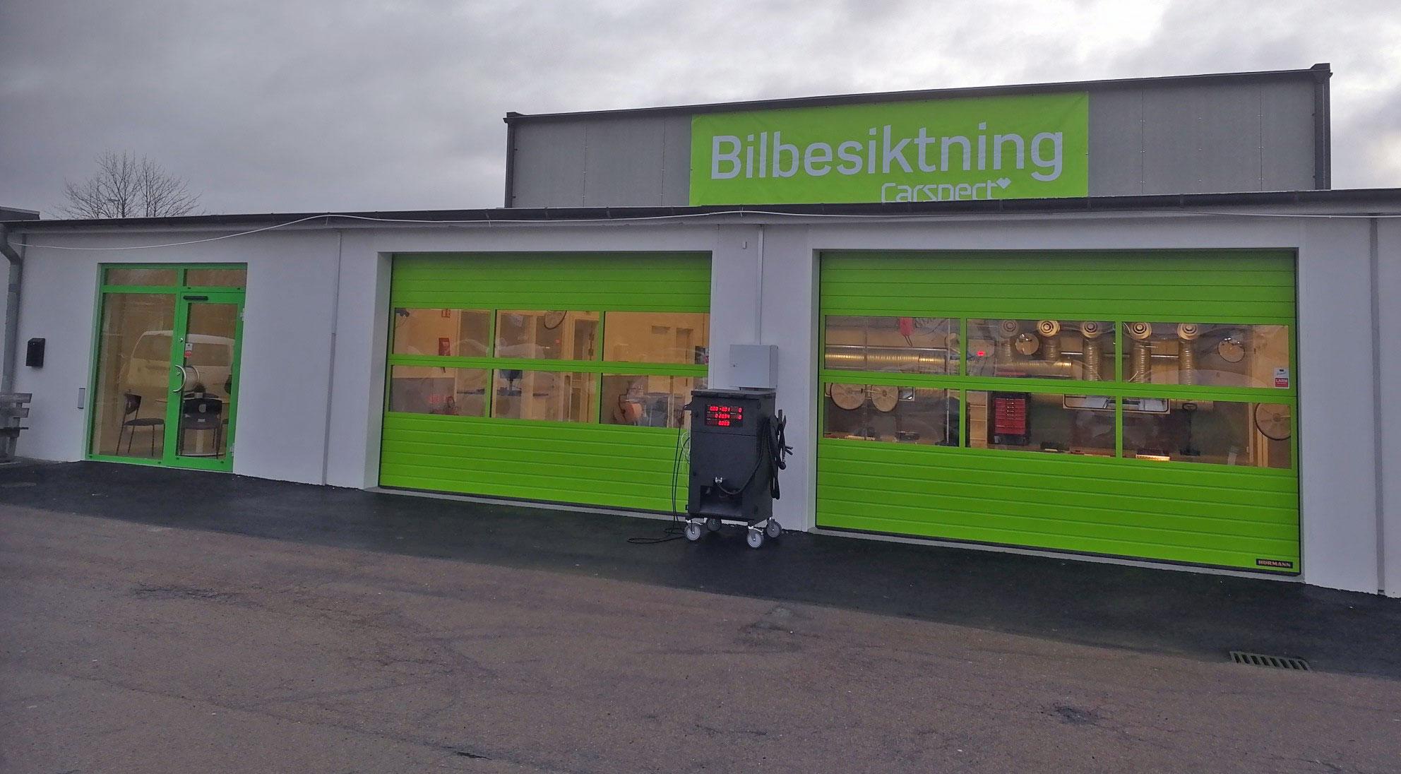 Carspects besiktningsstation på Enoch Thulins Väg, Landskrona