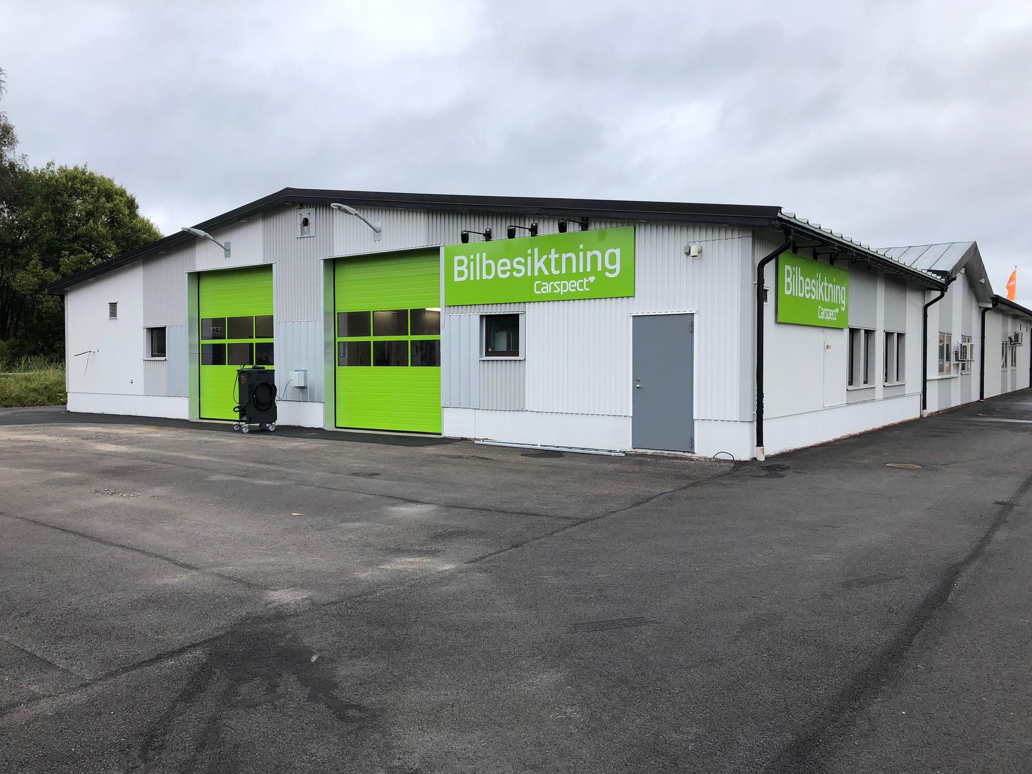 Carspects besiktningsstation på Nygårdsvägen i Borlänge