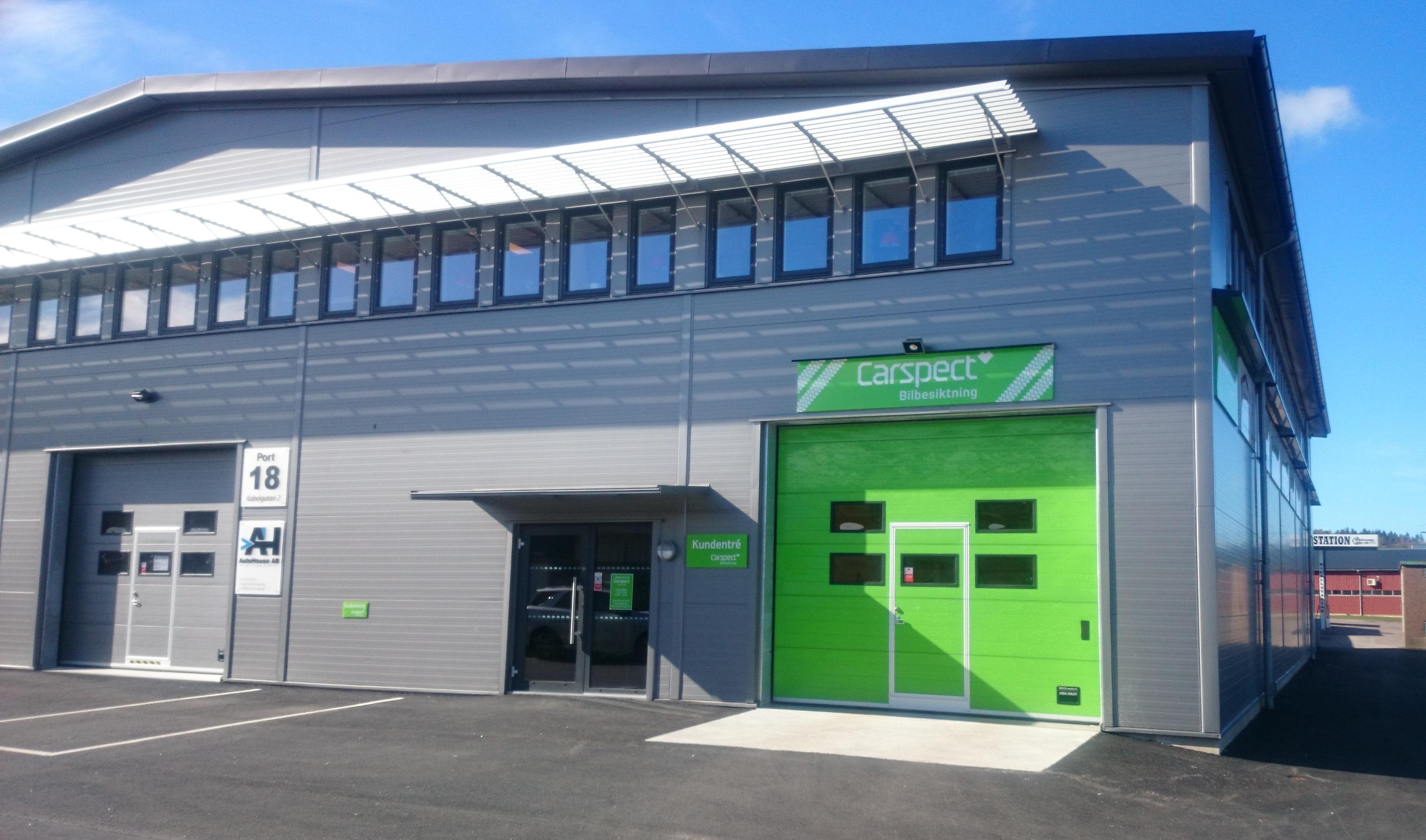 Carsepcts besiktningsstation på Kabelgatan i Kungsbacka