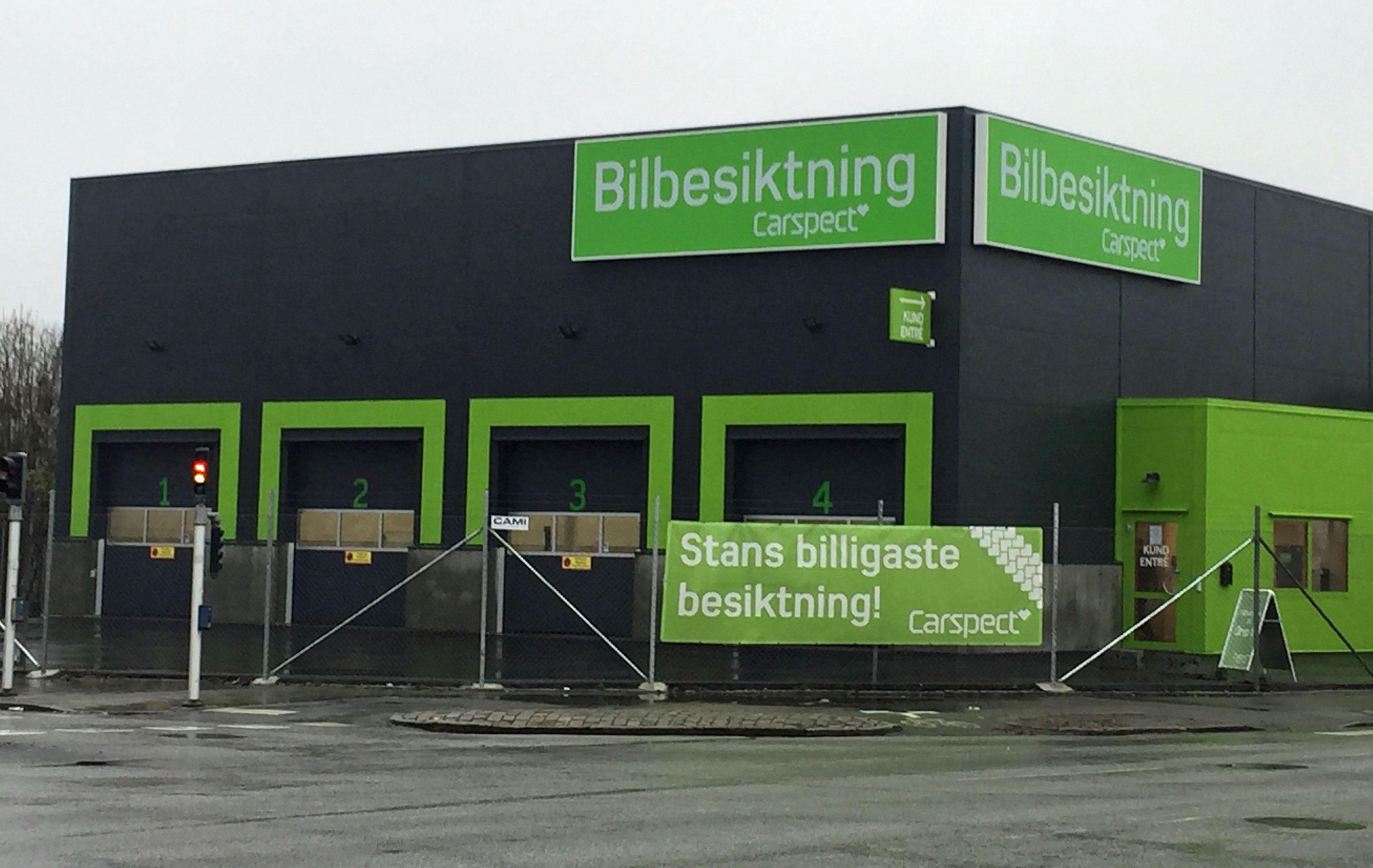Carspects besiktningsstation i Malmö Eriksfält