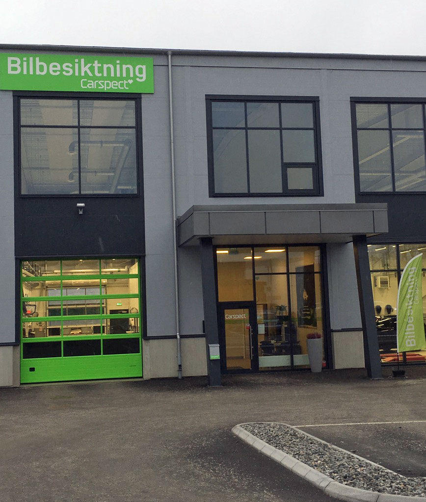 Carspects besiktningsstation i Viared, Borås