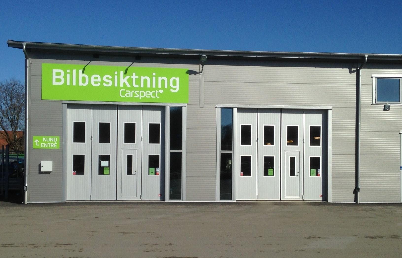 Carspects besiktningsstation i Alingsås Tomtered